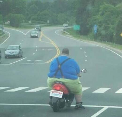 Too fat for a little Scooter