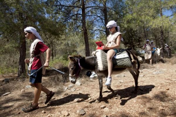 Ella Riding Donkey