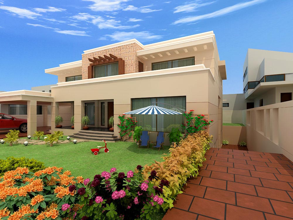 Home exterior designs top 10 modern trends for Gallery house exterior design photos