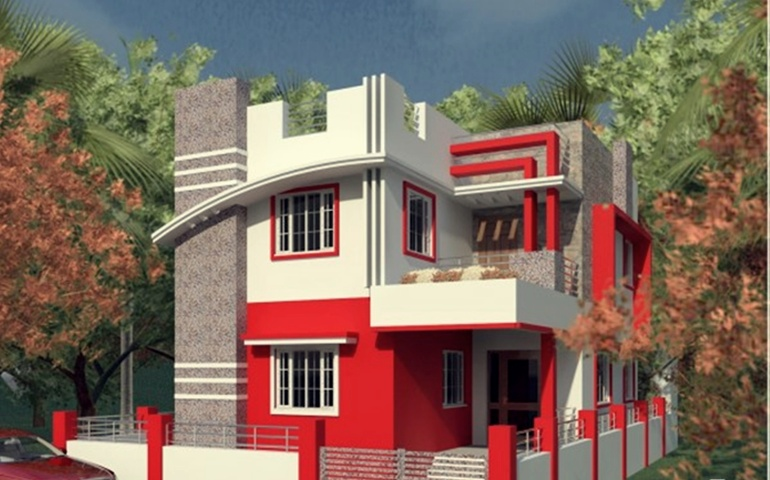 Home exterior designs top 10 modern trends for Indian home exterior design photos middle class