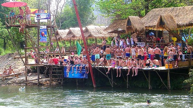 Vang Vieng, Laos Controversial Tourist Attractions