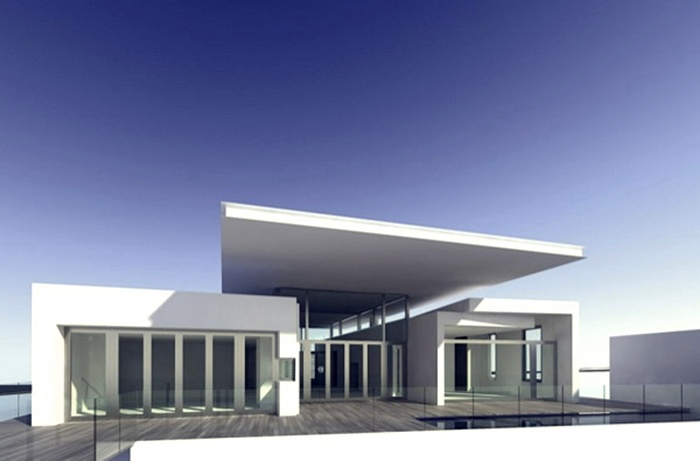 white exterior design - Exterior Designs