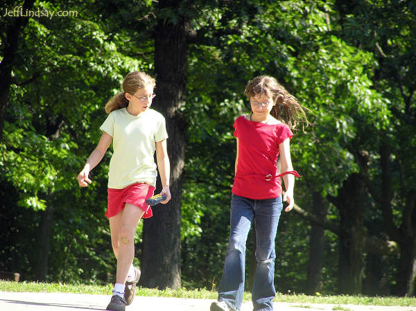 friends walking