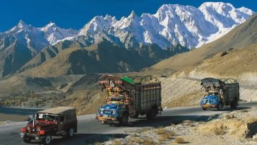 Karakoram Highway, between China and Pakistan