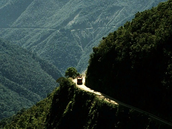 The North Yungas Highway in Bolivia