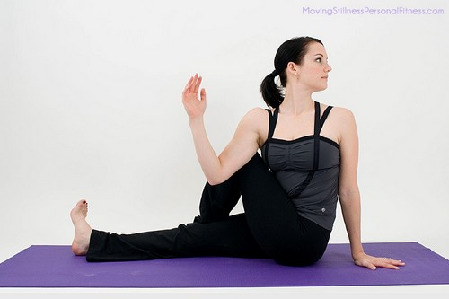 Basic Yoga Seated Twist Poses
