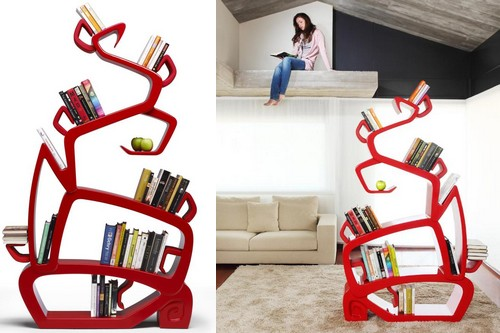 Cool Bookcase cool and unconventional bookcase designs