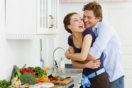 Romantic Cooking together