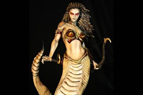 一个可怕的雌性动物在希腊神话