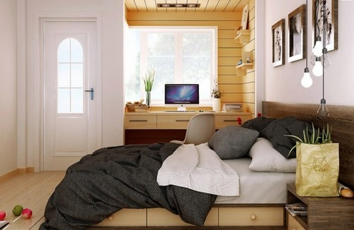 Sunny Rustic Wood Bedroom