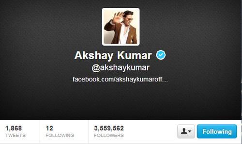 Popular Twitter Celebs in India