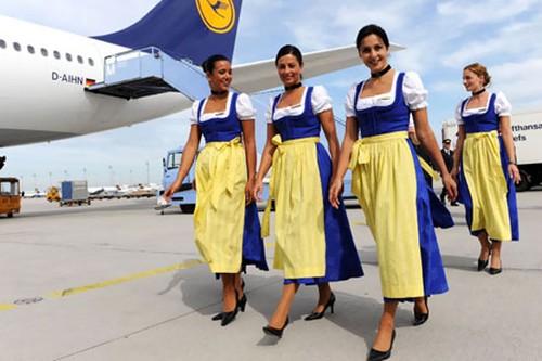 sexy Lufthansa stewardess
