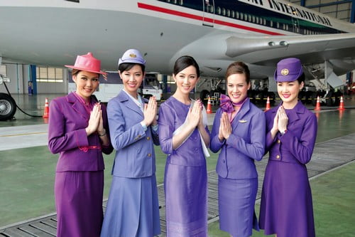 thai Attractive Airlines Stewardess