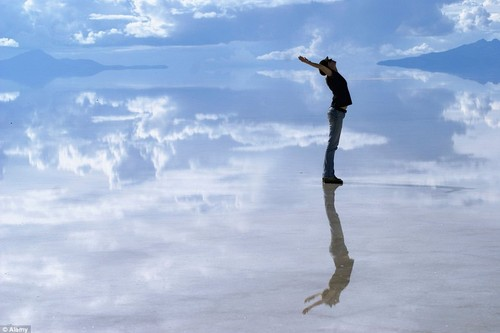 Riflettente Salt Flats in Bolivi