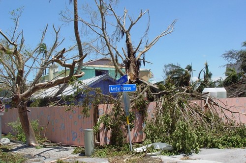 Hurricane Charley damage