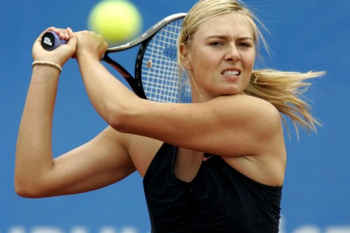 Hot Sharapova Playing Tennis