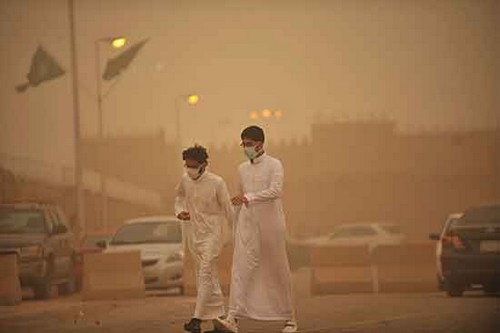 Pollution in Ahwaz, Iran