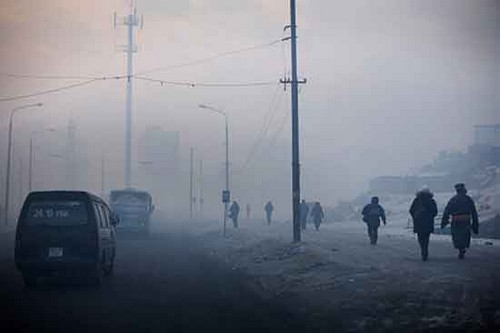Pollution in Ulan Bator, Mongolia