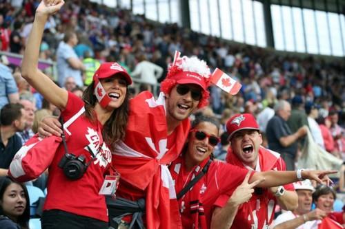 Canadian guys enjoying
