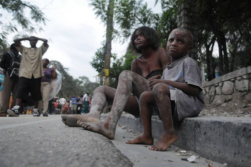poor kids in Haiti