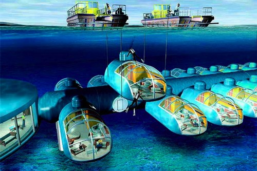 10 spectacular underwater hotels in the world for Best resort designs world