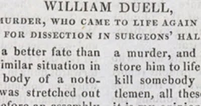 William Duell Execution