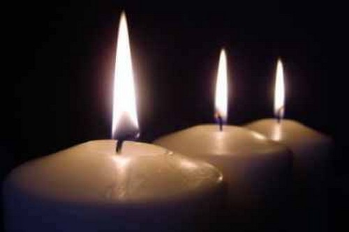 Three Lit Candles