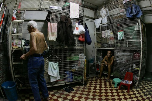 Cage, Coffin Slums in Hong Kong, China