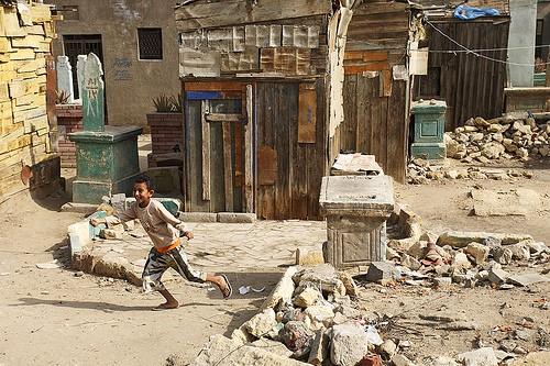 Horrid Slums of City of The Dead in Cairo