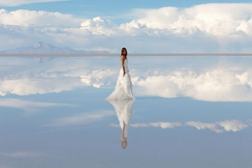 Salar de Uyuni in South America