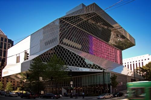 Seattle Public art Libraries buildings