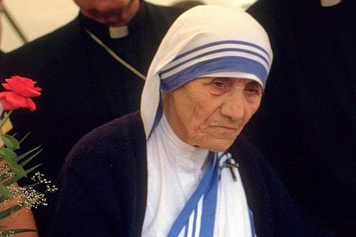 Mother Teresa at a pro-life meeting