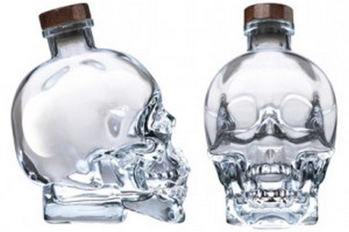 Crystal Head Vodka in Skull Bottle