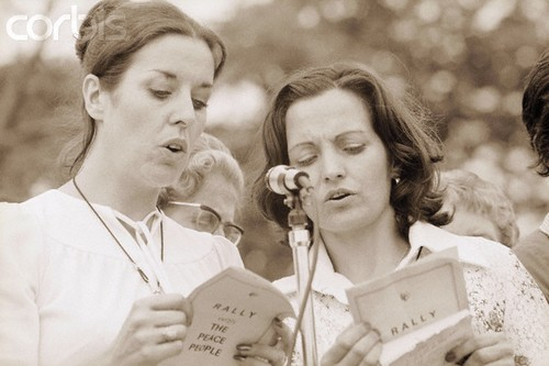 Peace Activists Betty Williams and Mairead Corrigan in 1976.