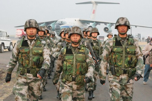 chinese army in field