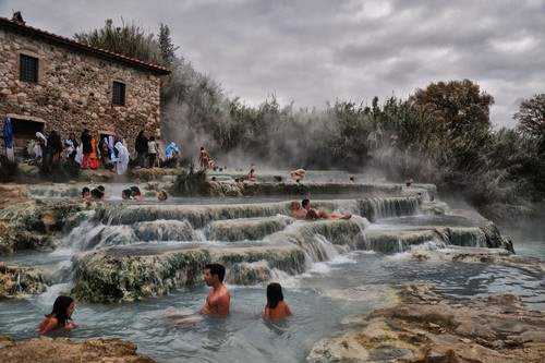 Cascate del Mulino Hot Springs