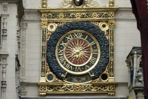 Elegant The Gros Horloge In Normandy, France, Is An Astronomical Clock In The 14th  Century. The Clock, Installed In A Renaissance Arch Crossing The Rue Du ...