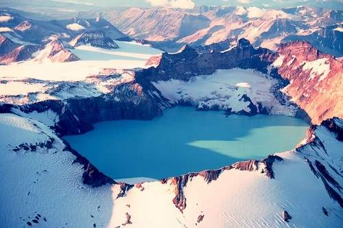 Mount Katmai Crater Lake