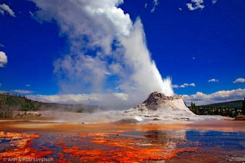 Castle Geyser-Yellowstone National Park, USA
