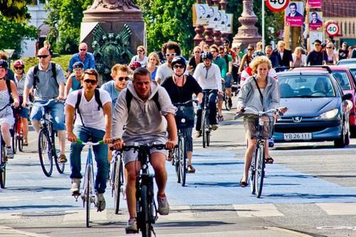 Copenhague-Bicycling