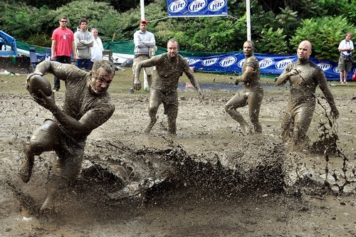 Football Championship in the mud