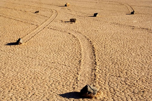 Sailing Stones Death Valley