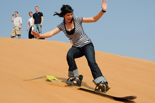 Sandboarding at Jockey's Ridge State Park, Nag Head