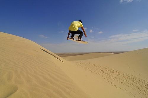 Sandboarding in Egypt