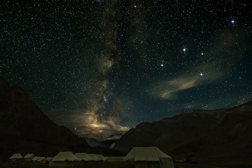 Spiti Valley, India Night Sky