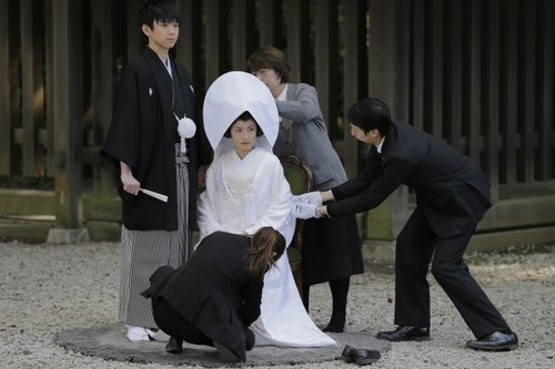 Japanese solo wedding