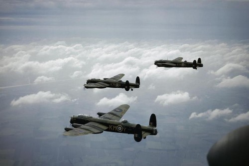 Three Avro Lancaster