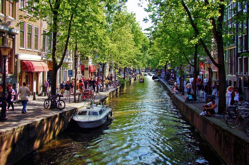 Beautiful Canal Cities Amsterdam