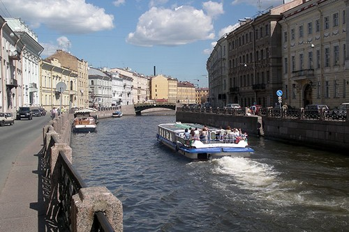 Beautiful Canal Cities St. Petersburg