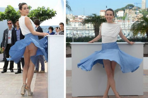 Arta Dobroshi up skirt moment